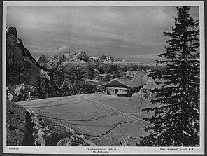 Die Hochlandhütte (Historisches Alpenarchiv)