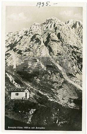 Die Arnspitzhütte ca. 1930 (Historisches Alpenarchiv))